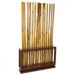 Biombo separador de cañas de bambú natural