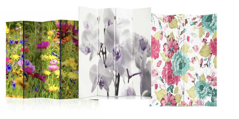 Biombos de flores
