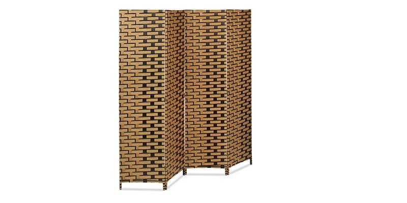 Biombo plegable de madera de bambún Relaxdays